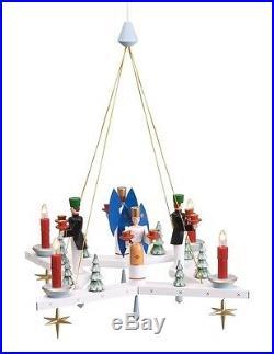Adventskranz Stern + Engel & Bergmann Ø =50 cm NEU Weihnachtskranz Hängeleuchter