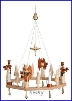 Adventskranz natur elektr. Mit Engel und Bergmann Ø =38 cm NEU Weihnachtskranz