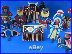 African 11 Hand Crafted Pieces Christmas Nativity Manger
