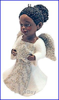 African American Angel withGlitter Wings-Star by Kurt Adler #8868