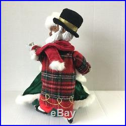 African American Santa And Mrs Claus Holiday Skate Avon Black Musical RARE Dance