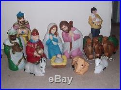 Air Blown Lawn Ornaments Nativity Full Set