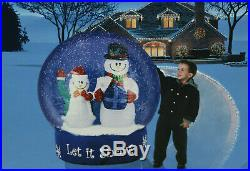 Airblown Inflatable Christmas Holiday Snowman Snow Globe Let It Snow