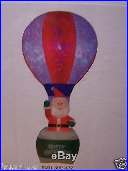 Airblown Inflatable Santa In A Hot Air Balloon 12 ft LED withLightshow Projection