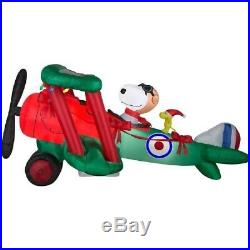Airblown Peanuts 12′ Snoopy Flying Ace Woodstock Christmas Inflatable Outdoor De