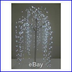 Albero DI Natale Luminoso Tipo Salice Piangente Con Foglie E 390 Luci Led