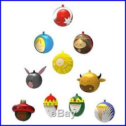 Alessi Set Of 10 Christmas Decoration Tree Baubles AMJ13S10