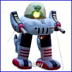 Alien Robot Inflatable Spaceship Halloween Prop Yard Decoration