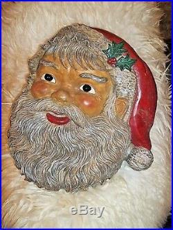 Alter Old Nikolaus Weihnachtsmann Kopf Weihnachten Deko Wanddeko