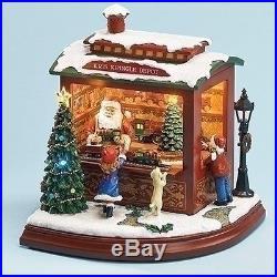 Amusements Animated Santas Train Shop Musical LED Light Up Christmas Figurine