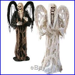 Angel of Death Scary Halloween Prop Grim Reaper 6 ft Outdoor Decoration