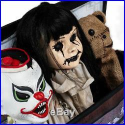 Animated Haunted Toy Box Animatronic Scary Animated Halloween Decorations