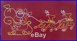 Animated Neon Santa Reindeer Lights Multi Color LED Outdoor Christmas Decor