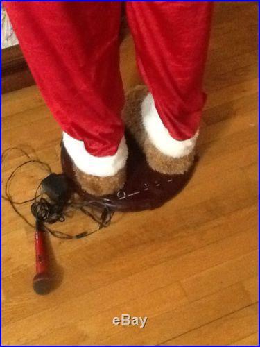 Animated Santa Bear 5 Ft Tall Sings Dances Euc Youll Love