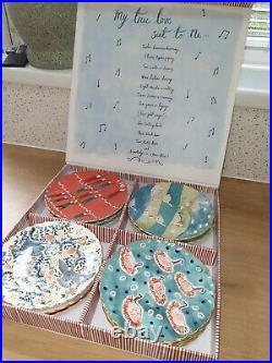 Anthropologie Christmas Plates. Unusual Gift/Present. Brand New rare