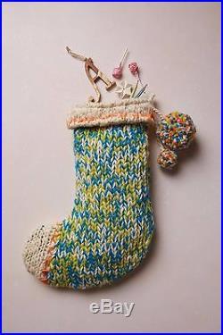 Anthropologie Knitted Tassel Stocking