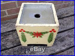 Antique German Wooden Christmas Tree Stand For Goose