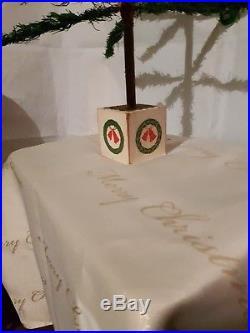 Antique Rare 40 German Goose Feather Christmas Tree / Victorian / Vintage
