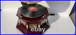 Antique Vintage Replica Gramophone Phonograph Record Player Working Condition