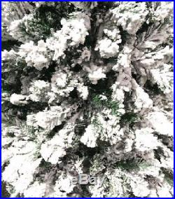 Artificial Christmas Tree 4ft White Flocked Snow Xmas Best