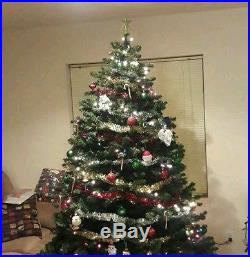 Artificial Christmas Tree 6 8 Feet Unlit Used! Labeled Self Spread Branches