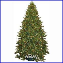 Artificial Christmas Tree 9 ft. Carolina Fir Pre-Lit Multi-Colored Lights Stand