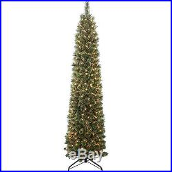 Artificial Christmas Tree Holiday Home Decoration LED 300 Clear Lights 7 Feet