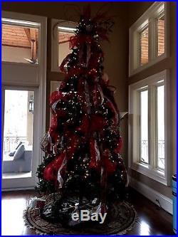Artificial Christmas Tree Prelit Frasier Pine Green 12ft Pine Clear Lights Xmas