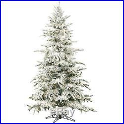 Artificial Christmas Tree Unlit 7.5-Foot Mountain Pine Flocked Slim Large Indoor