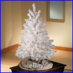 Artificial Christmas Tree White 3 Feet Tall All Season Holiday Decorative NEW