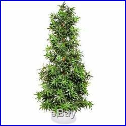 Artificial Fake Marijuana Leaf Christmas Tree Weed