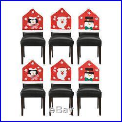 Assorted Christmas Felt Chair Covers Table Decoration (Santa, Snowman, Penguin)