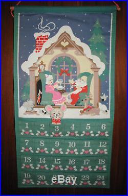 Avon 1987 Advent Calendar Christmas Countdown Calendar with Mouse