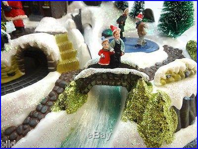Avon Winter Wonderland Centerpiece Fiber Optic Animated