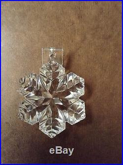 BACCARAT Crystal Christmas Ornament Snow Flake Unique on E Bay