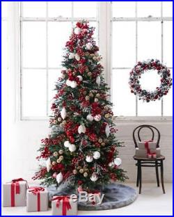 BALSAM HILL Norway Spruce Narrow Christmas Tree, 9 ft, Clear with Easy Plug