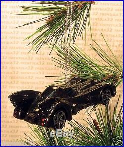 BATMAN Batmobile CHRISTMAS ORNAMENT Black rare XMAS