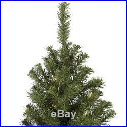 BCP 6ft Pre-Lit Spruce Hinged Artificial Christmas Tree with Stand Green