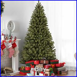 BCP 9ft Spruce Hinged Artificial Christmas Tree with Stand Green