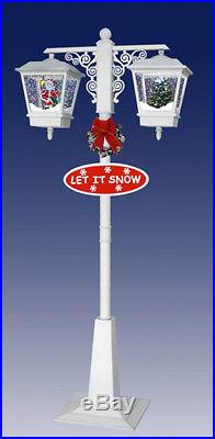 BEAUTIFUL SNOWING Christmas Double Lamp Post