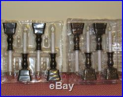 BETHLEHEM LIGHTS BATTERY OPERATED WINDOW CANDLES with TIMER SET OF 8 BRONZE NEW