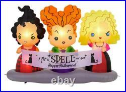 BRAND NEW Disney 4.5 ft Hocus Pocus Sisters Scene Air Blown Inflatable Halloween