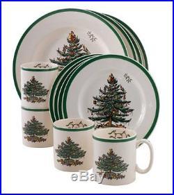 BRAND NEW! Spode Christmas Tree 12-Piece Dinnerware Set, Service for 4