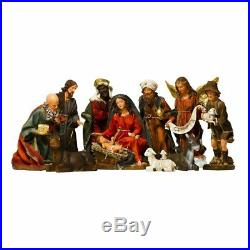 BRUBAKER Christmas Nativity Scene 14 Real Life Nativity Set 11 Figurines