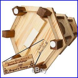 BRUBAKER Christmas Pyramid 24 Wood Nativity Play, 4 Tier Carousel