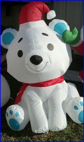 Baby Snowman Santa Polar Bear Inflatable Air Blown