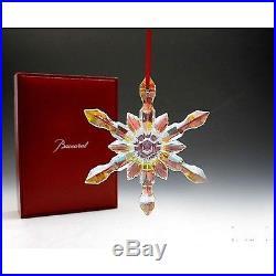 Baccarat 2012 Noel Crystal Christmas Snowflake Xmas Ornament 2613009 NEW IN BOX