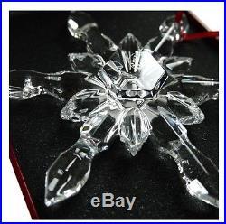 Baccarat Noel Crystal Snowflake Xmas Christmas Ornament