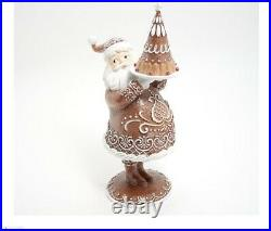 Baking Lace Gingerbread Santa Figurine by Valerie Exquisite
