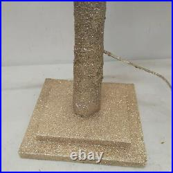 Balsam Hill 5′ CHAMPAGNE GLITTER LED TREE Light Up Tree New And Open Box